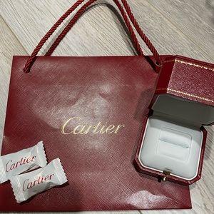 Carter ring box (empty) and medium cartier bag